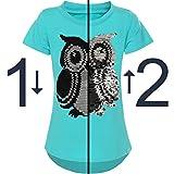 BEZLIT Mädchen Kurzarm T-Shirt Wende-Pailletten Motiv Glitzer Bluse 21286 Grün Größe 116 Test