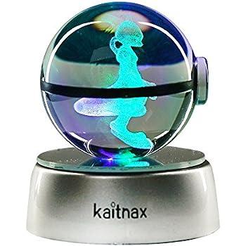 Au Boule Cristal50 Laser De Kaitnax Base Gravé Led Avec 3d MmLampe ukiPXZ