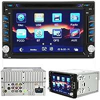 """Lacaca 15,75 cm (6,2"""") HD, doppio Din In Dash-Stereo auto lettore DVD, MP5, supporto per GPS, USB, SD, AUX, FM, Bluetooth, chiamata vivavoce con telecomando, microfono retrovisore con penna Touch"""