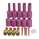 WIG Gaslinse Spannhülsen Gasdüsen Kit für WP17 18 26 WIG Schweißbrenner Zubehör Verbrauchsmaterialien 19 Stück