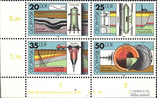 DDR WZd469DV mit Druckvermerk (kompl.Ausg.) 1980 Geophysik (Briefmarken für Sammler)