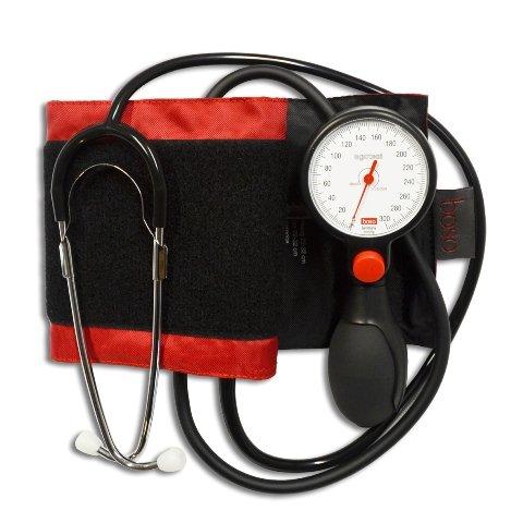 Boso Egotest Blutdruckmessgerät Schwarz Aneroid m Stethoskop