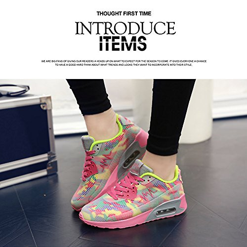 Kivors Sportschuhe Turnschuhe Damen schockabsorbierende Straßenlaufschuhe Sport Fitness Laufschuhe neue Schuhe für Mädchen rose