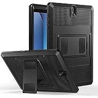 MoKo Samsung Galaxy Tab S3 9.7 Funda - Shockproof Híbrido Resistente Smart Cover Case Para Choque con Protector de la Pantalla Incorporado para Samsung Galaxy Tab S3 9.7 pulgada Android 7.0 2017 Version Tablet (SM-T820 / T825), Negro