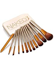 Ronzille Naked 3 Makeup Brushes Kit with Storage Box - Set of 12