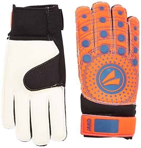 Jako Kinder TW-Handschuhe Junior 3.0 Torwarthandschuh, Flame/Night Blue, 5