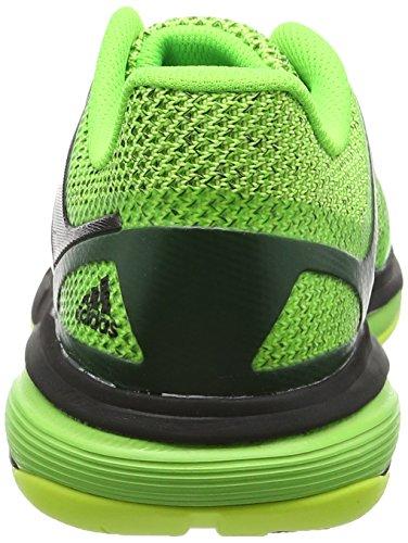 adidas Court Stabil 13, Scarpe da Pallamano Uomo Verde (Solar Green/Ftwr White/Core Black)