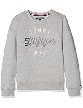 Tommy Hilfiger Ame Girls Hilfiger Cn Hwk L/S, Sudadera para Niñas