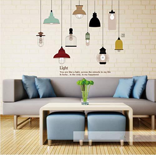 Glanz Glühbirne Wandaufkleber Wohnzimmer Schlafzimmer Dekor Wandbild Kunst Vinyl Tapete Geschirr Wandtattoo Aufkleber für Küche