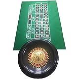 """Enorme 16""""(40cm) ruleta rueda, diseño de bolas, color verde/fieltro + marcador de ganar"""