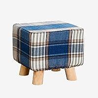 Preisvergleich für Fabric wooden stool Ottomane und Puffs aus Holz Quadratischen Hocker ändern Schuhe Hocker Stoff Sofa Hocker mit 4 Holzbeine Tatami Hocker im Wohnzimmer Schlafzimmer 25CMX25CMX25CM
