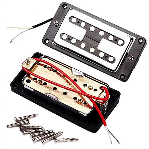 alsu3luy02Ld Tonabnehmer für Gibson Les Paul E-Gitarre, Dual Coil Neck Steg, Schwarz -