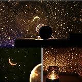 Lampe de Projection de Nuit étoilée Étoiles et lune bebe LED Veilleuse Etoile Enfant pour Chambre Chevet Table de Fille Fils Cadeau Anniversaire