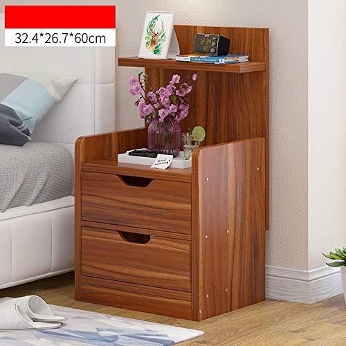 ACZZ Bücherregal Nachttisch/Lagerschrank Einfache und moderne Schubladen Nachttisch wirtschaftliche Art Schließfach,Ahorn Kirsche Farbe-a -