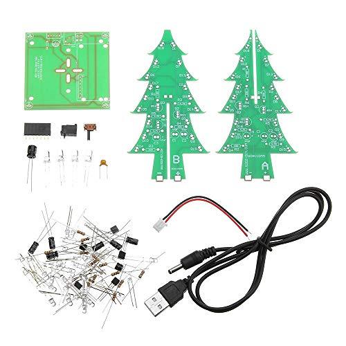 Be82aene con Cavo di Alimentazione Versione aggiornata Kit di Produzione Elettronica for Albero di Natale colorato Fai-da-Te