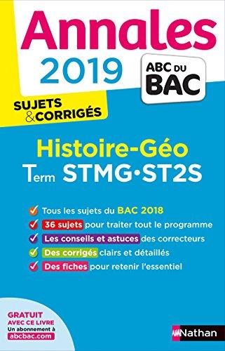Histoire-géo terminale STMG, ST2S : annales 2019