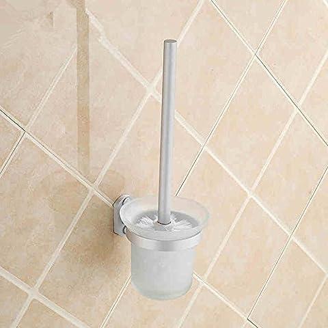 Espacio de cinco aluminio cepillo WC baño aseo Brush set accesorios de baño sólida de chapa engrosamiento de la base wc