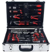 Maletín de herramientas Profesional con Caja de Aluminio y 108 Piezas Maletin con Cierre de Seguridad 4438