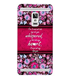 Beautiful Love Quote 3D Hard Polycarbonate Designer Back Case Cover for VIVO X3S