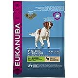 Eukanuba Senior Lamm & Reis Alle Rassen, Trockenfutter für ältere Hunde, Probiergröße, Einzelbeutel, 100 g