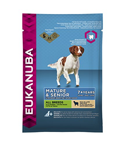 Eukanuba Senior Lamm & Reis Alle Rassen, Trockenfutter für ältere Hunde, Probiergröße (100 g)
