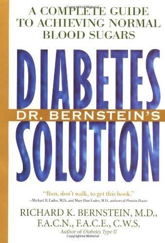 Dr Bernstein's Diabetes Solution by Richard Bernstein (1997-05-26)