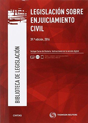Legislación sobre Enjuiciamiento Civil (39 ed. - 2016) (Biblioteca de Legislación)