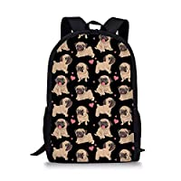 Nopersonality 3D Animal Prints Primary School Student Satchel Backpack for Girls Boys Schoolbag
