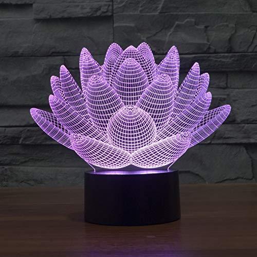 Lotus 3D Stillzeit Lampe Kinder Schlafzimmer Dekorative Tischlampen Für Wohnzimmer Atmosphäre Jungen Und Mädchen Nacht Schreibtischlampe Berührungsschalter