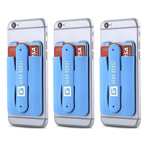 Gear Beast 3Pack Handy Brieftasche Kreditkarte ID Halter mit Ständer für Damen und Herren mit Wallet für alle Handys inklusive iPhone X 876S 6Plus Galaxy S8Plus S7S6Edge Note 85 hellblau (Brieftasche Bradley Vera Tasche)