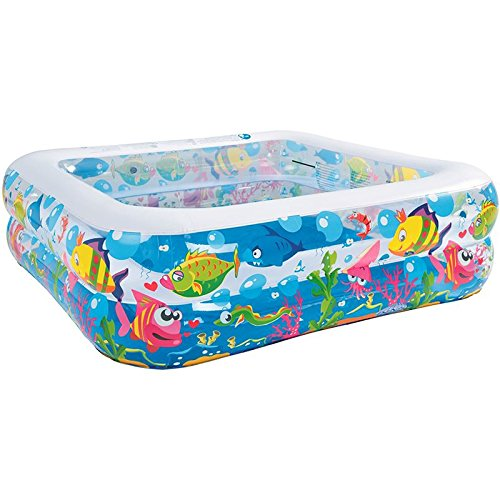 Best Sporting aufblasbarer Pool Sea World, Planschbecken quadratisch, 145 x 145 x 45 cm