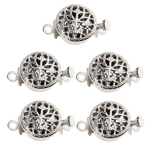 F Fityle 5 Ensembles De Fleurs Rondes Fermoir à Pression Pincer Interrupteur Perles Accessoires De Bijoux Bricolage