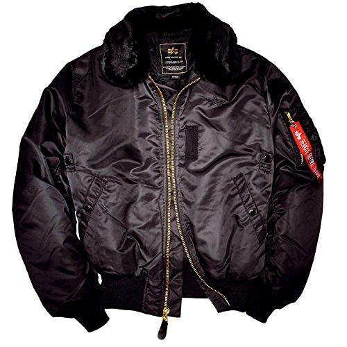 B15 Flight Jacket (Alpha Industries B15 Jacket, Größe:M;Farbe:black)