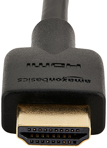 AmazonBasics High-Speed HDMI 2.0 Cable - 1.8m / 6 Feet (2-Pack) (Latest Standard) Supports Ethernet, 3D, Audio Return
