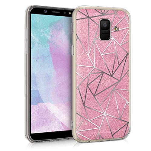 kwmobile Samsung Galaxy A6 (2018) Hülle - Handyhülle für Samsung Galaxy A6 (2018) - Handy Case in Silber Pink