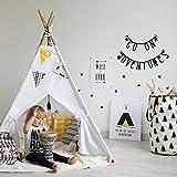 ZHUDJ Klappbare Zelt Kinder Zelt Haus Indoor Outdoor Spiel, Weiß Und Schwarz