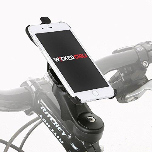 Wicked Chili Fahrradhalter Vorbau/Ahead Halter für Apple iPhone 8/7 (4,7 Zoll) (20% Carbon, MTB/Rennrad, Made in Germany, QuickFix), iPhone 8/7 Vorbau Halter