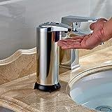 FOCCTS Automatischer Seifenspender Edelstahl Seifen Spender Infrarot-Seifen Dispenser mit Wasserdichter