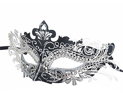 Laser Cut metallo Masquerade per Mask donne di Halloween Mardi Gras del partito