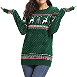 TWIFER Weihnachten Frauen Zipper Dots Hoodies Kapuzen Sweatshirt Pullover