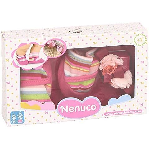 Nenuco - Set zapatos y calcetines, color marrón (Famosa 700011309)