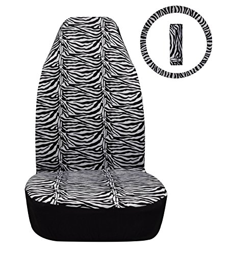 superart08-co018-single-front-seat-covers-steering-wheel-seat-belt-black-white