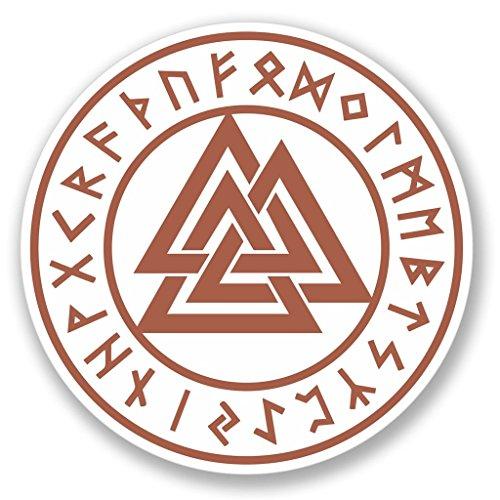 Preisvergleich Produktbild 2x Valknut-Runen Odin Trinity Symbol vinyl Aufkleber Aufkleber Laptop Reise Gepäck Auto Ipad Schild Fun # 4139 - 20cm/200mm Wide
