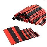 Efanr 150piezas/Pack Color Negro + Rojo termoretráctiles tubo Wire Wrap Surtido 2: 1Shrink Ratio forrado de adhesivo Heat Shrink Tubo de cable aislante Kit