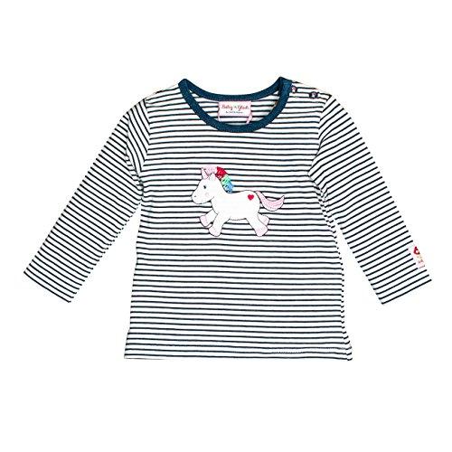 SALT AND PEPPER SALT AND PEPPER Baby-Mädchen Langarmshirt BG Longsleeve Stripe Einh OCS Blau (Indigo Blue Melange 461) 56