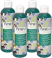 Timely, shampoo vitaminico rigenerante per il pelo danneggiato, confezione da 4 x 250 ml