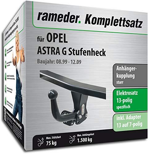 Rameder Komplettsatz, Anhängerkupplung starr + 13pol Elektrik für OPEL Astra G Stufenheck (116920-03878-1)