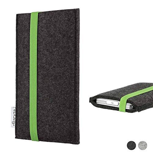 flat.design Handy Hülle Coimbra für Shift Shift6m handgefertigte Handytasche Filz Tasche fair grün dunkelgrau