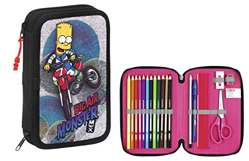 The Simpsons – Plumier Doble, 34 Piezas, 13 x 20 cm (SAFTA 411505054)
