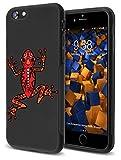 mumbi double Grip Hülle kompatibel mit iPhone 7 Hülle, iPhone 8 Hülle, griffige Schutzhülle schwarz - Motiv Frosch